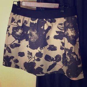 J. Crew skirt, Navy & cream, 100% cotton, size 10